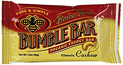BumbleBar Gluten Free Organic Energy Original with Cashew, 1.4-Ounce Bars (Pack of 12)
