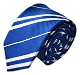 Kiwi Power School Tie Cosplay Party for Harry Potter Costume Accessory Halloween Party Ravenclaw (Blue)