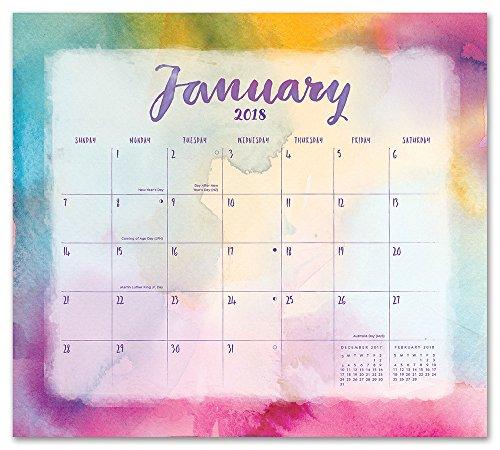 Orange Invite (Orange Circle Studio 2018 Magnetic Monthly Calendar Pad, Aquarelle)