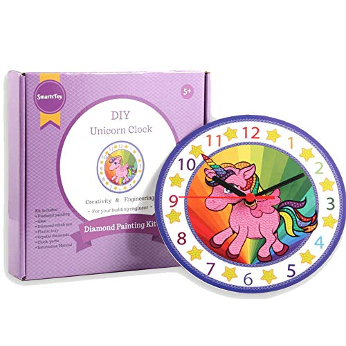 Make Your Own Clock Kit - Unicorn Gifts for Girls and Boys - Toys Unicorn  Arts and Crafts for Girls and Boys - Paint by Numbers Diamond Painting Kits