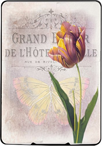 Vintage Flower Tulip Background with Butterfly Kindle Paperwhite Vinyl Decal Sticker Skin by Moonlight Printing