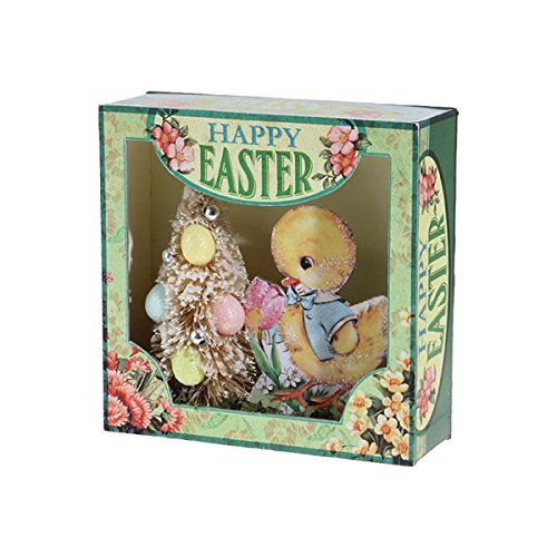 Happy Easter Duckling Shadow Box, 6 Inches (Box Tree Shadow)