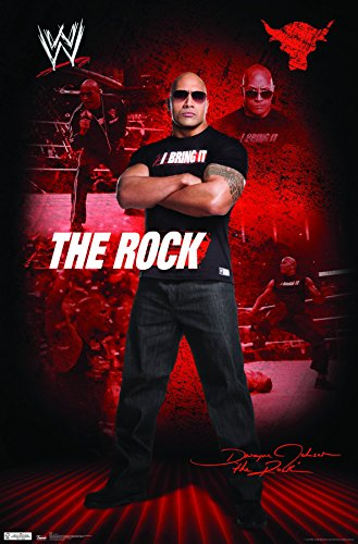 (Trends International WWE The Rock Wall Poster 22.375