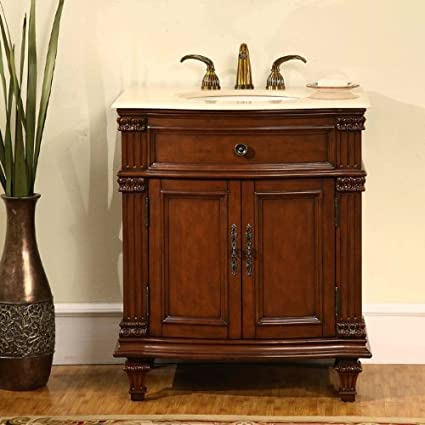 separation shoes 695c6 f3d44 30.5 in. Sophia Single Sink Bathroom Vanity in Cherry