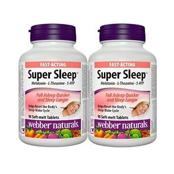 Webber Naturals Super Sleep Melatonin Plus L-Theanine & 5-HTP, 90 soft