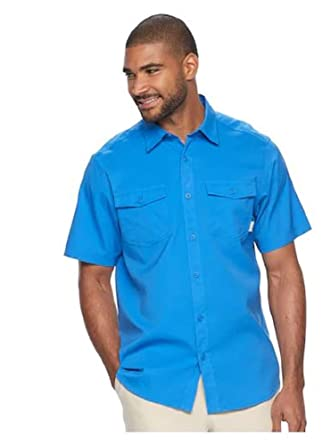 Stormy Blue, Small Columbia Mens Pacific Breeze Shirts