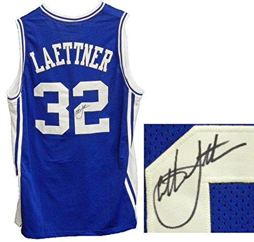 Christian Laettner Signed Blue Custom Duke Blue Devils Basketball Jersey