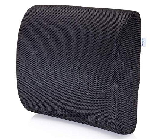 MemorySoft Premium Memory Foam Lumbar Support Pillow Ergonomic Back Cushion to Help Back Pain