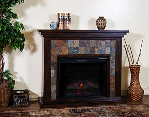 Sunny Designs K3486DC-50F Santa Fe Fireplace Media Console with Firebox Santa Fe Media Cabinet