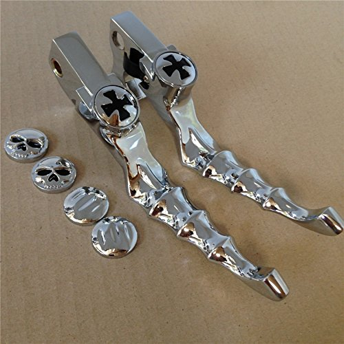 Motorcycle Parts Brake Clutch Hand Lever For Sportster 1200 883 883R Forty Eight Seventy Two Chrome Levers with Chrome Zumbie Cross Groove Covers