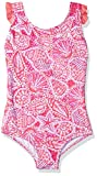 Hatley Girl's Ruffle Swimsuit, Pink (Pink St Barts 650), 4 Years