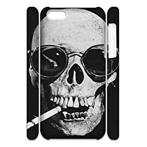 MMZ DIY PHONE CASEskull 3D-Printed ZLB816427 DIY 3D Phone Case for iphone 5c