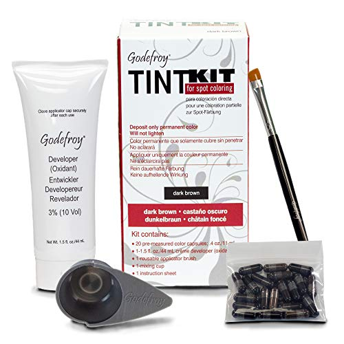 Godefroy Tint Kit for Spot Coloring, Dark - Hair Eyes Brown Color