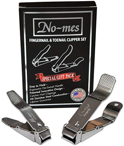 (No-Mes Fingernail and Toenail Clipper Gift Set, Catches Clippings, Made in USA)