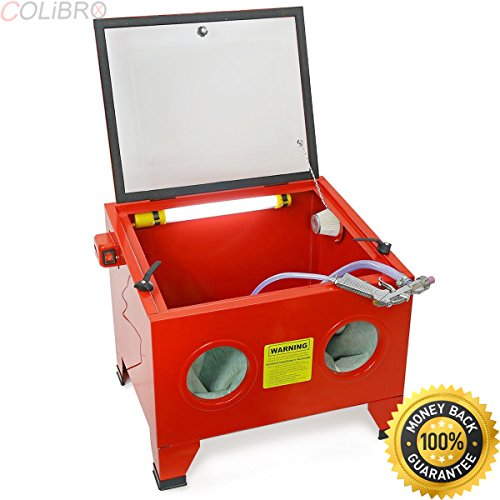 COLIBROX--25 GAL BENCH TOP SANDBLASTER CABINET SANDBLAST SMALL PARTS HEAVY DUTY BLASTER HD. benchtop blast cabinet reviews. harbor freight benchtop blast cabinet. sand blasting cabinet reviews. by COLIBROX