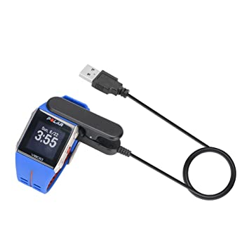 Bemodst® Polar reloj inteligente Cargador - Cable de cargador con cable de datos portátil USB de repuesto para Polar V800 Reloj Inteligente con Función de ...