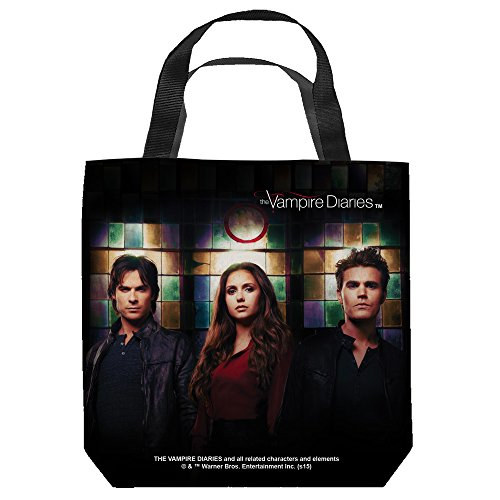 Vampire Pictures Makeup (Vampire Diaries Stained Glass Tote Bag White)