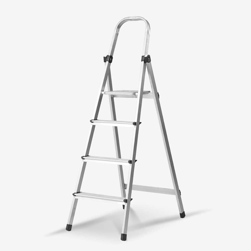 Stepladder Escalera for taburete de 4 pasos Escalera plegable de aluminio portátil, escalera de tijera, escalera telescópica multiusos for la oficina de loft en el hogar, antideslizante, carga máxima: Amazon.es: Bricolaje y