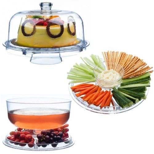 Buf Tray - Generic O-8-O-2596-O uit Buf Lid Food Fruit d Food Plate Bowl Dome owl Dom Wedding Cake play Pl Buffet Party Tray 6 Stand Tray 6in1 Display HX-US5-16Mar28-1293