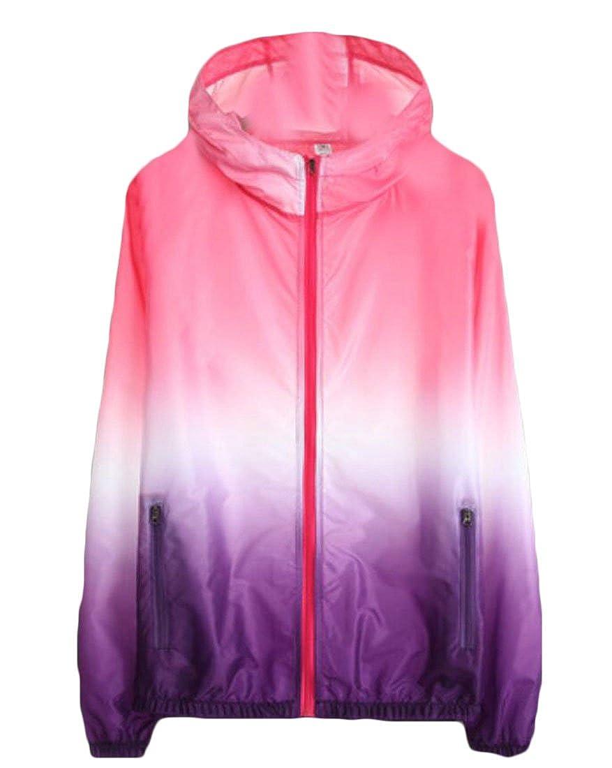 Zantt Womens Windbreaker Waterproof UV Protect Hooded Skin Coat Lightweight Jackets