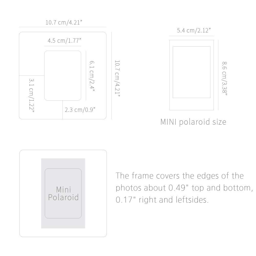 Monolike Paper Photo Frames PHOTOMOUNT Marine Pattern Mix 18 Pack Fits Mini Polaroid Size