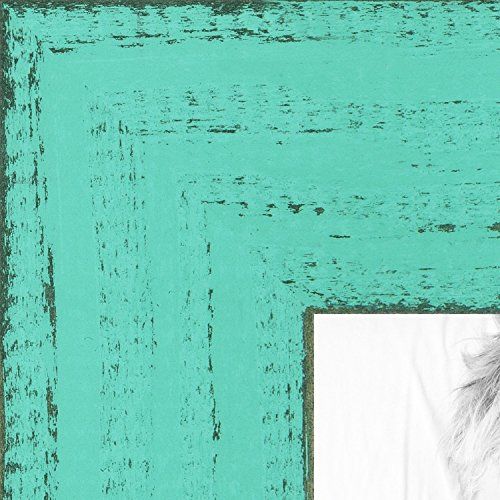Frame Island (ArtToFrames 16x16 inch Weathered Barnwood in Saturated Island Green Wood Picture Frame, WOMSM-ECO150-IGN-16x16)