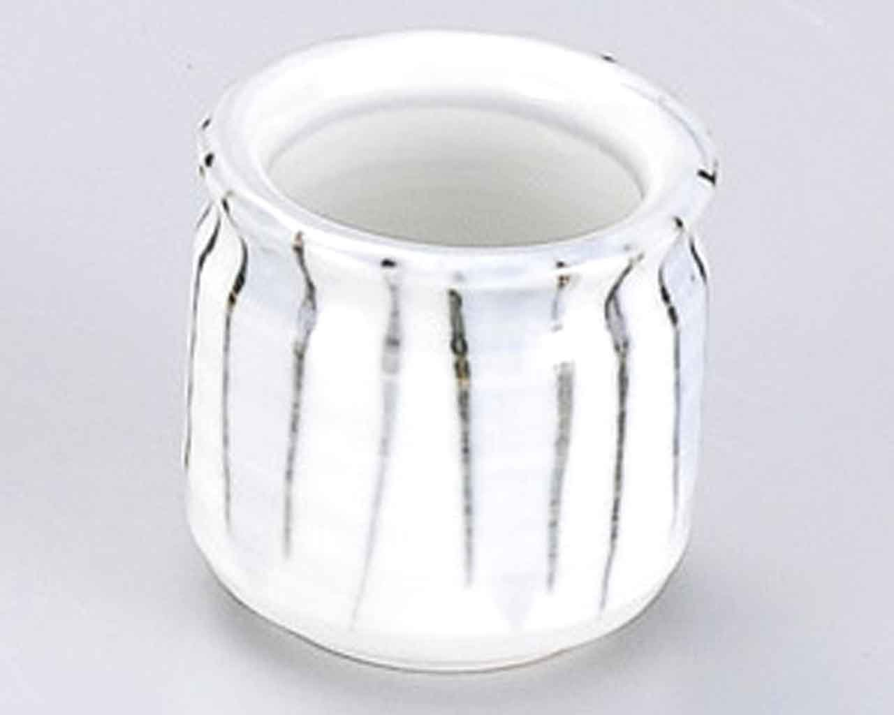 Kesho Tokusa 2.1inch Set of 5 Toothpick holders White porcelain Made in Japan by Watou.asia