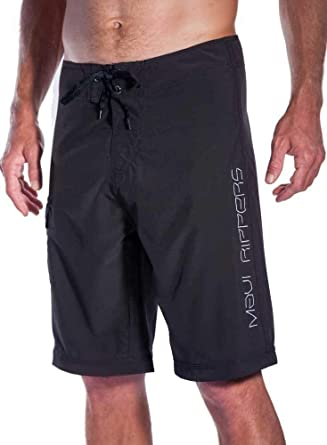 36533e835a Maui Rippers Long Board Shorts 24 Inch Outseam, 4 Way Stretch (44) Black