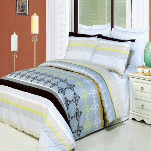 Luxurious 100% Egyptian Cotton 3 Piece Cal King Size South Gate Printed Duvet Cover - Gate Stores South
