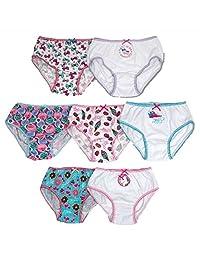 JoJo Siwa Girls' 7-Pc Cotton Underwear Brief Panties