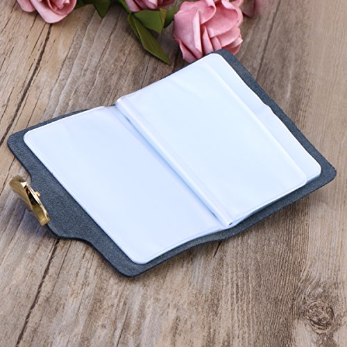 Card Women Genuine Organizer Holder for Blue Lady Girls Card Hasp Case Security Bag Blue Credit Leather qtxwBCPIE8