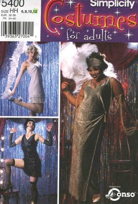 Flapper Costume Pattern (Pattern Costumes for Adults Flapper)