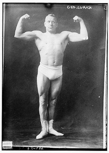 Photo: George Lurich, 1876-1920, Estonian Greco-Roman Wrestler, strongman, wrestling