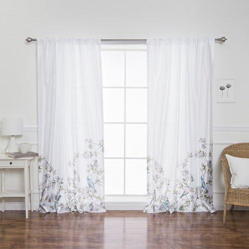 Home Fashion Opaque Faux Silk Serenity Garden Curtains