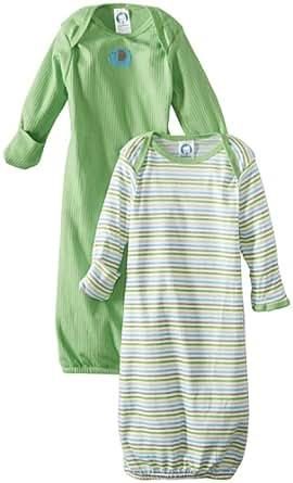 Amazon Com Gerber Baby Boys Newborn 2 Pack Elephant Gown