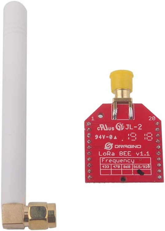Dragino LoRa Bee Module 915MHZ Ultra Long Range RF Wireless Transceiver SX1276, Built-in Temperature Sensor Low Battery Indicator, Low Power Consumption
