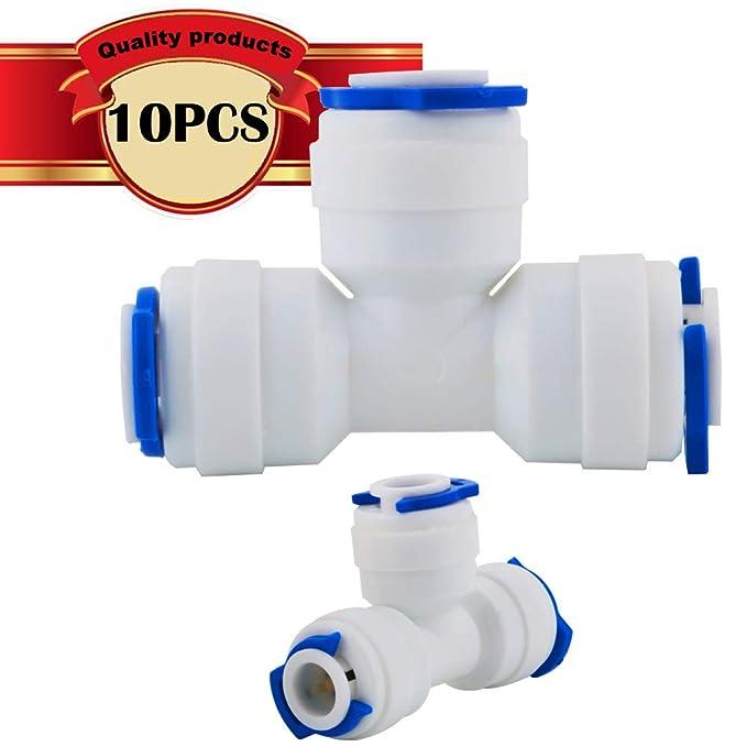 WPERSUVV Tee conector de tubo de ósmosis inversa de 1/4 pulgadas ...