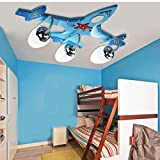 Children's Eye LED Bedroom Airplane Ceiling Light A+