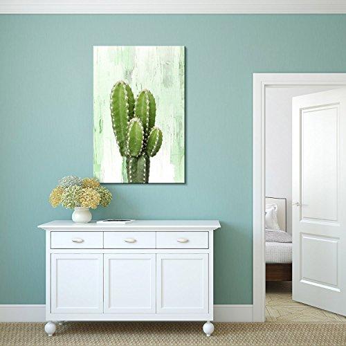 Print Cactus on Retro Style Background