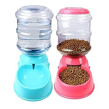 Pet Online Alimentador de perros y dispensador de agua Pet Alimentación automática de perros y gatos