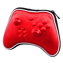 eXtremeRate® Red Airform Hard Carry Pouch Box Case Bag Storage for Xbox One Wireless Controller with Strap