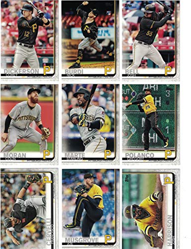 Pittsburgh Pirates/Complete 2019 Topps Series 1 Baseball Team Set! (12 Cards) Includes 25 bonus Pirates Cards!