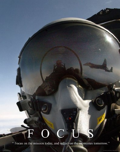 Military Motivational Poster Art Print 11x14 US Navy Air Force Fighter Jets Pilot Planes Academy