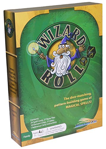 Wizard Roll Family Board Game - Match Shapes Using Dice and Cards to Create Magic Wand Spells, Teacher Created Educational Fun for All Ages, Kids and Adults 7 Years and Up