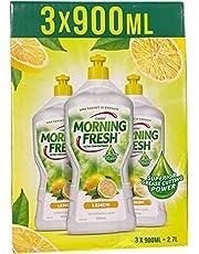 Morning Fresh Dishwashing Liquid Lemon 3 X 900 Ml