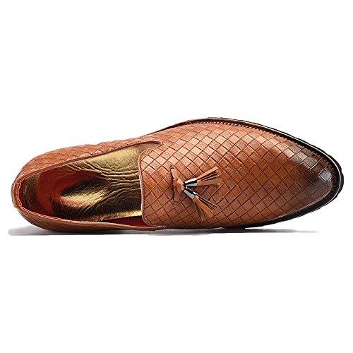 Scarpe Casual Fondo da da Scarpe Morbido Oxford Pigro Bean A Rete Black Rotonda Traspiranti Punta Uomo Scarpe Business 4YZxr4