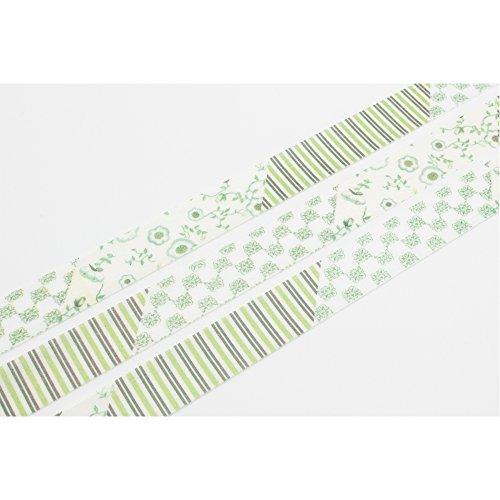 Mt Washi Masking Tape Ex Flower Green (MTEX1P32) by MT (Image #3)