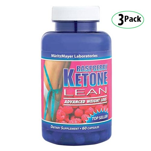 MaritzMayer cétone framboise Lean avancée Weight Loss Supplement 60 Count 3-Pack