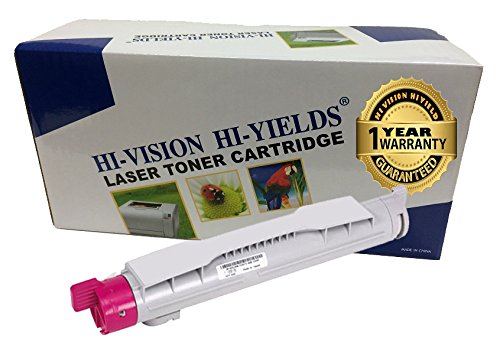 HI-VISION HI-YIELDS Compatible Toner Cartridge Replacement for Dell 5100 (Magenta)