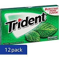 12-Pack Trident Sugar Free Gum Spearmint, 14 ct
